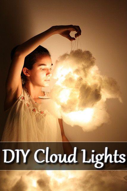 DIY Cloud Lights Home Decoration #DIY #Home #Decor #Lights http://www.diyhomestips.com/150/crafts/diy-cloud-lights-home-decoration