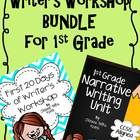This resource is a combination of The First 20 Days of Writer's Workshop for 1st Grade and Narrative Writing for 1st Grade.  Begin with the first 2...