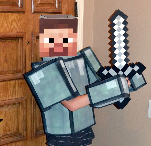 "Easy ""No Sew"" Soft Foam Minecraft Armor"