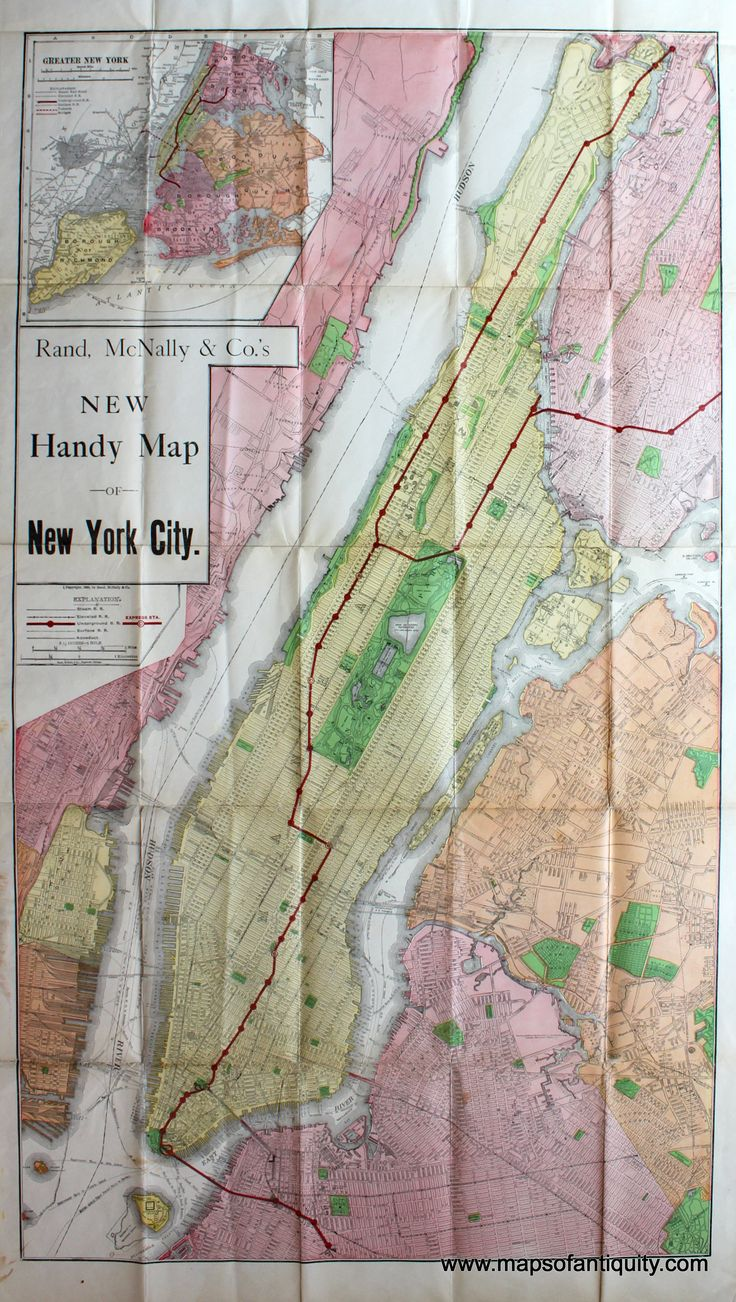 s New Handy Map of New York