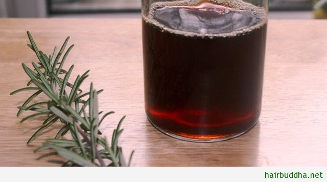 Rosemary Hair Rinse: Rosemary encourages hair growth by stimulating and improving circulation to the scalp and activating hair cells. It is traditionally
