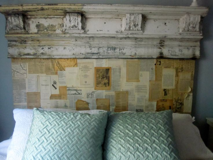 King Size Vintage Book Page Headboard Queen By ToolShedOriginals, $700.00