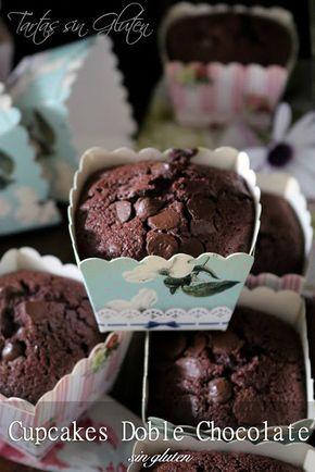Tartas sin Gluten .....365 dias sin gluten: Cupcakes doble Chocolate #singluten