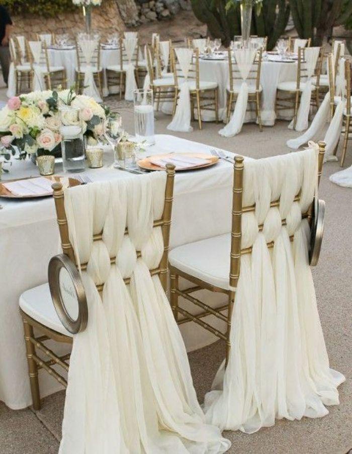 la housse de chaise mariage pas cher en voilage blanc                                                                                                                                                                                 Plus
