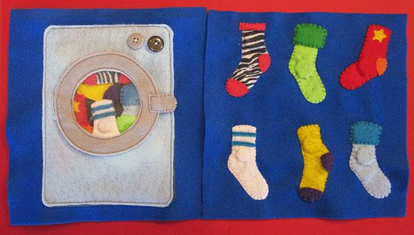 Quiet Book: Sock Matching Page (and a free add-on pattern)