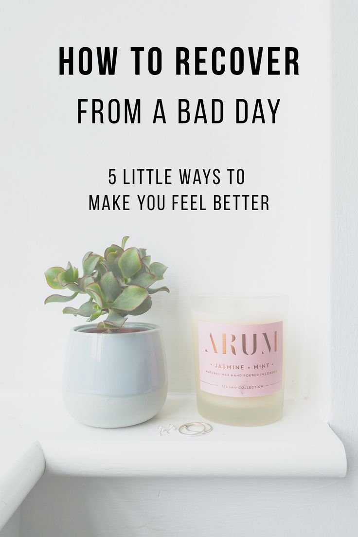 With everything going on in the world and on top of that our own personal struggles, bad days can be difficult to recover from. If you're struggling, having a bad day, or finding it tough to feel positive; here are a few ways you can find a release from those negative feelings and start to feel better.