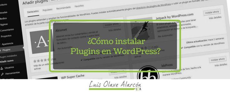 Cómo instalar Plugins en WordPress? - luisolavea.xyz