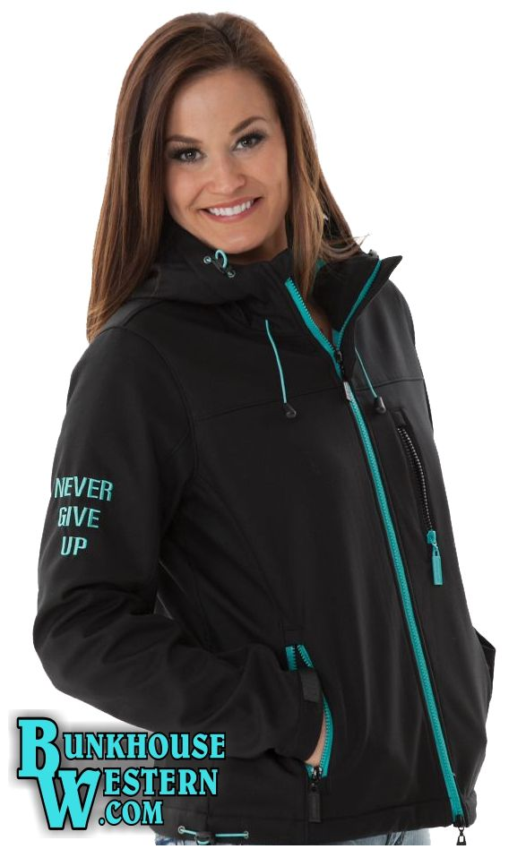 Cowgirl Tuff Company, Black, Zip Up, Jacket, with Turquoise Accents, $149.99