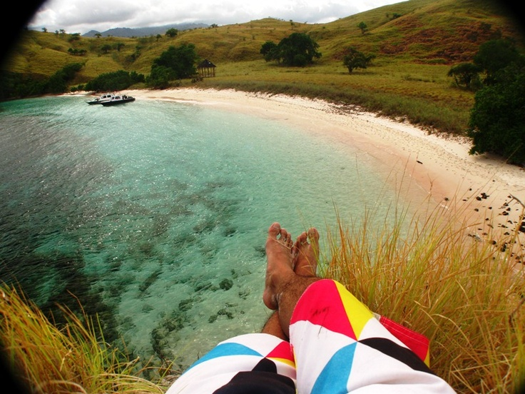 View Pink Beach from the Top of Hills #Komodo #Island #Beach #Nice