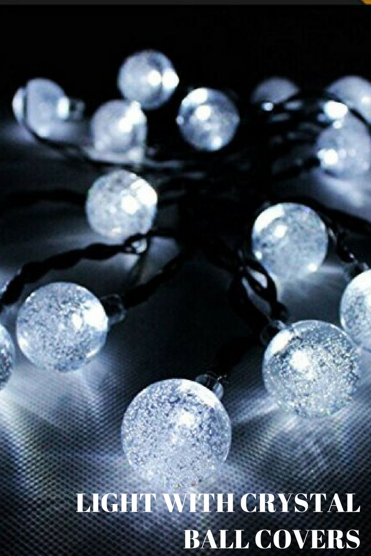 Cmyk® Solar Operated 30 LED String Light with Crystal Ball Covers, Ambiance Lighting, Great for Outdoor Use in Patio, Pathway, Garden, Indoor Use in Party, Bedroom Decor (Warm White) [Energy Class A+] lights in bedroom | lights | lights in bedroom hanging | lightskin boys | lights over kitchen island | crystal ball | crystal ball diy | christmas lights outdoor | christmas lights in the bedroom | christmas lights outside | christmas lights ideas | christmas lights in bedroom | Christmas…