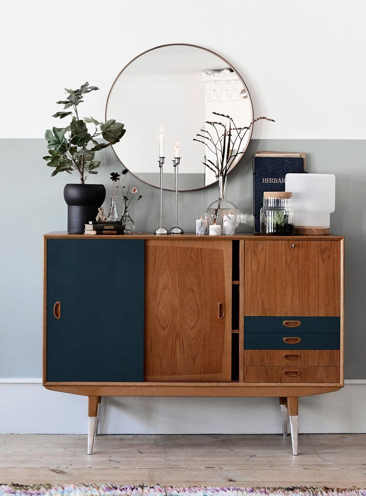 Painted sideboard gives a modern twist on mid-century furniture | The best interior DIY projects | Go to http://www.redonline.co.uk for more cheap decorating ideas like this