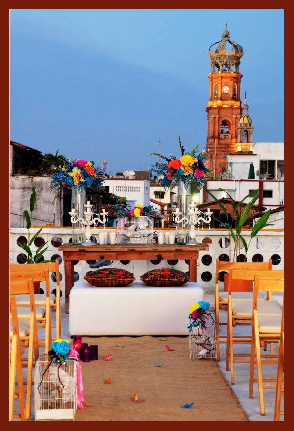 Celebra tu boda o evento especial en la terraza de #HotelCatedral #PuertoVallarta