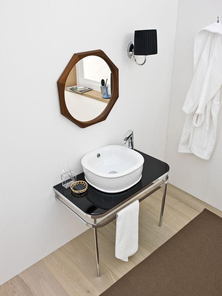 Azuley, design Meneghello Paolelli Associati. Consolle e lavabo| Azuley bathroom collection, consolle washbasins #bathroom #consolle #washbasin #lavabo #bagno #artceram