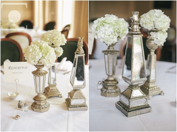 Floral And Non Floral Centerpieces With Lanterns At Brennans Of Houston Reception