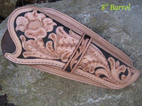 výrobky z kůže,zdobené tepáním - leathercraft | Pouzdra na zbraně / Gunholsters