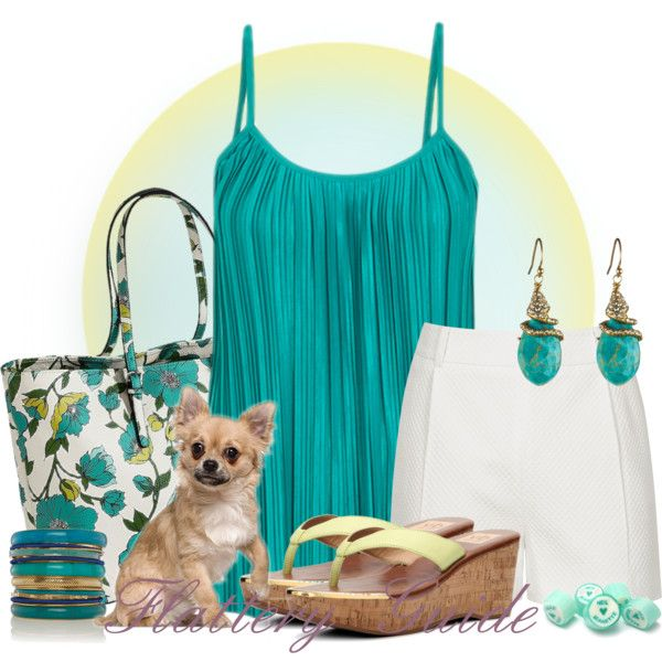 A fashion look from July 2014 featuring Reiss shorts, Dolce Vita sandals and Merona tote bags. Browse and shop related looks.