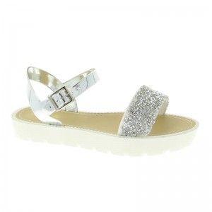 Womens Sam & Billie Glitter Cleated Sandal Glitter Cleated One Bar Sandal