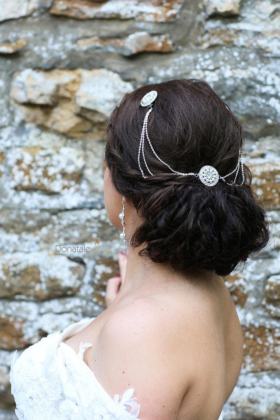 Art Deco Head Chain Hair Piece Vintage Style Accessories Bridal Headpiece Pearl Wedding In 2018 Your