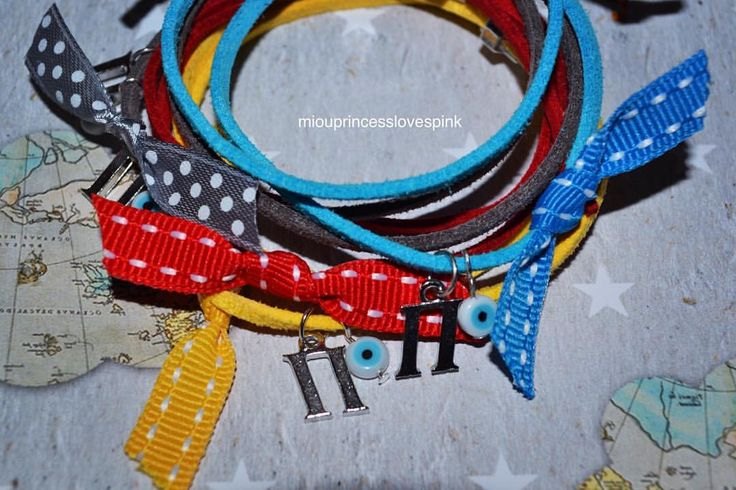 #sneakpeek #preview #diy #diybracelets #miouprincesslovespink #gettingready #christening #red #yellow #grey #turqoise #aqua #bows #grosgrain #ribbon #evileye #martyrika #βραχιολακια #ματι #βάπτιση #μονόγραμμα #παναγιώτης #μαρτυρικά