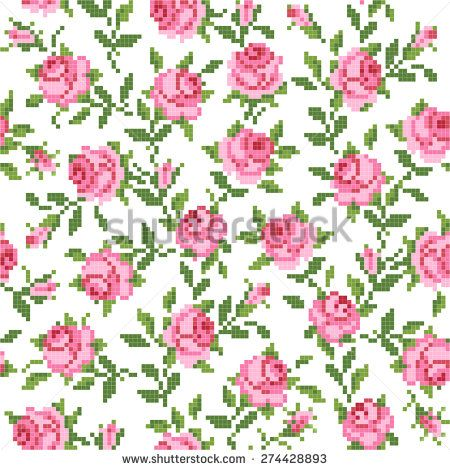 seamless  floral   background with roses