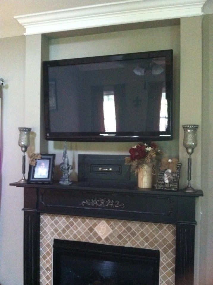 27 best Mantel with TV mount images on Pinterest ...