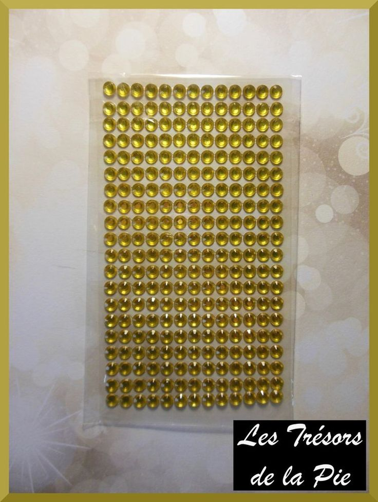 STRASS CRISTAL 3D ADHESIFS (x260) - Nail art - RONDS - 6mm - Doré