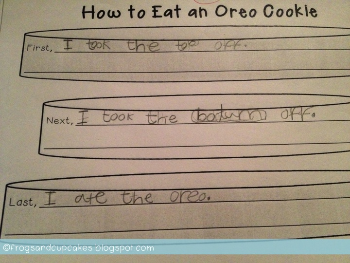 Writing Instructions How To Eat An Oreo Writing Activity