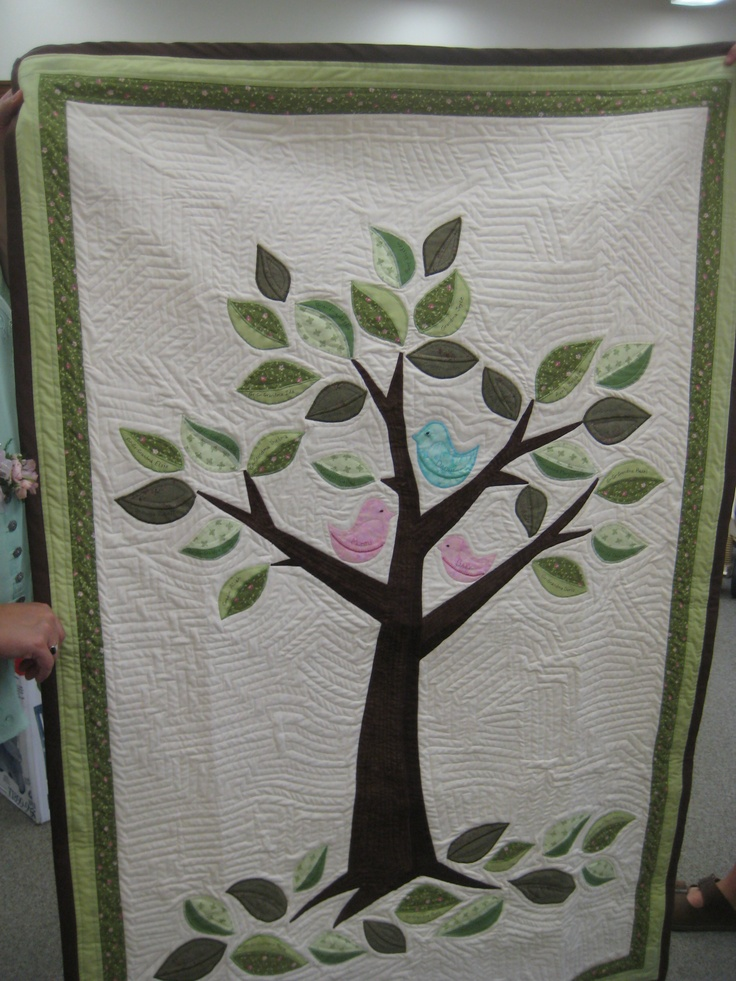 Family tree quilt - by Leslie Saari and Joyce Cinco for Granddaughter