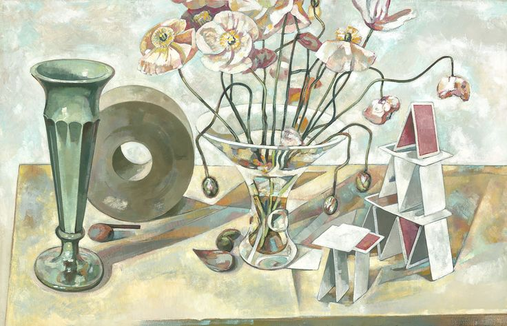 Anthony Springford, Poppies in Steuben Vase (giclee print, 2014)