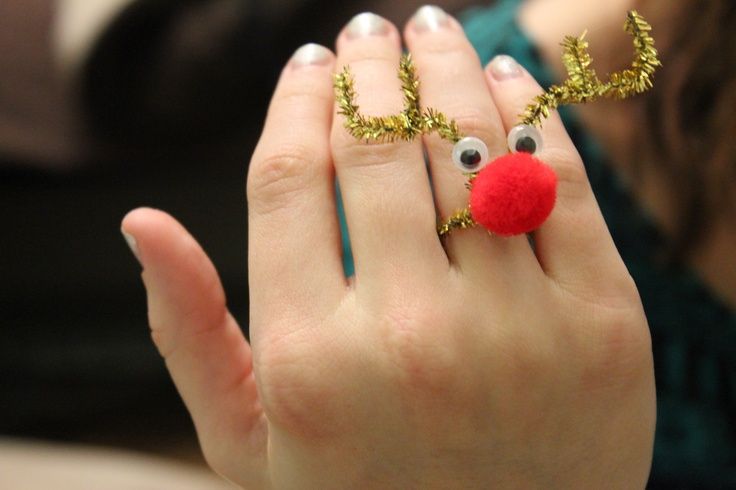 I finally uploaded my own pin. Reindeer rings!