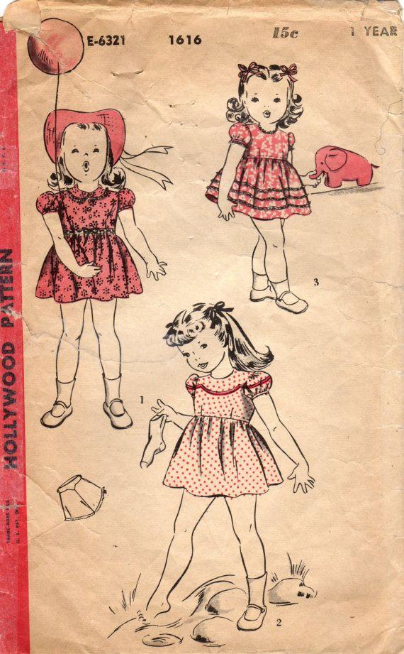 343 best Children\'s Vintage Patterns images on Pinterest | Vintage ...