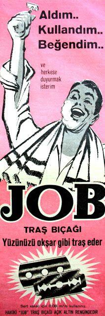OĞUZ TOPOĞLU : job traş bıçağı 1964 nostaljik eski reklamlar