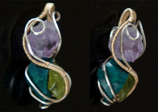 """Now this is a special piece, I gifted this to Green Party presidential nominee Jill Stein.. I dub thee : """"The Presidential Pendant Of Peace, Power & Love""""  Made with #Amethyst #Chrysocolla #peridot and 100% #purelove  You can read more about this pendant at http://vibrationofawesome.com/jill-stein-the-presidential-pendant-of-peace-power-love/"""