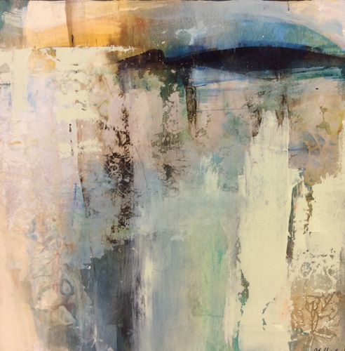 "Daily Painters Abstract Gallery: Contemporary Abstract Painting ""Yesterday's Dawn"" by Intuitive Artist Joan Fullerton"