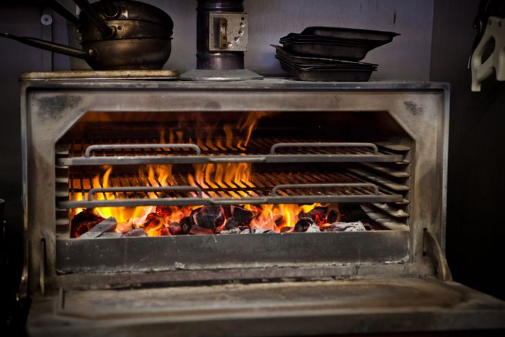 The Josper oven fire which grills meat and fish and reaches temperatures up to 500 degrees C  www.restaurantsbrighton.co.uk