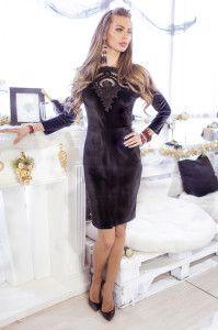 Black Velvet Dress - Roma <3