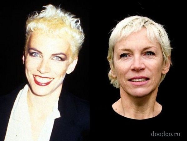 Annie Lennox Then and Now