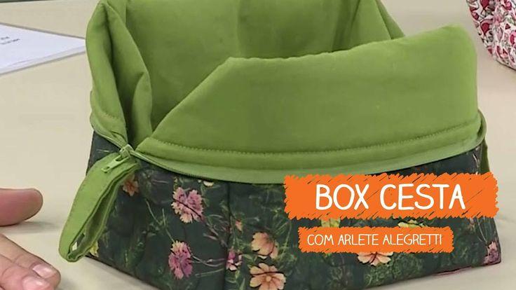 Box Cesta - Arlete Alegretti | Vitrine do Artesanato na TV - Rede Família