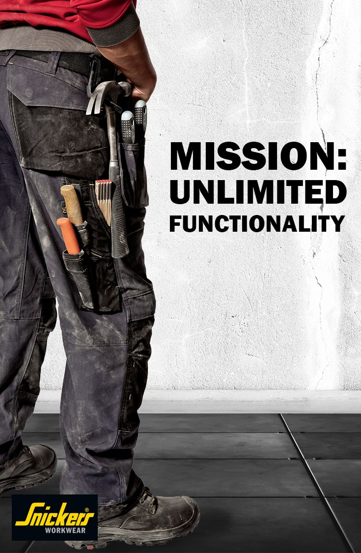 All trousers from Snickers Workwear have one thing in common: they offer unlimited functionality so you can work your best. Check out our full range of #worktrousers by following this pin.
