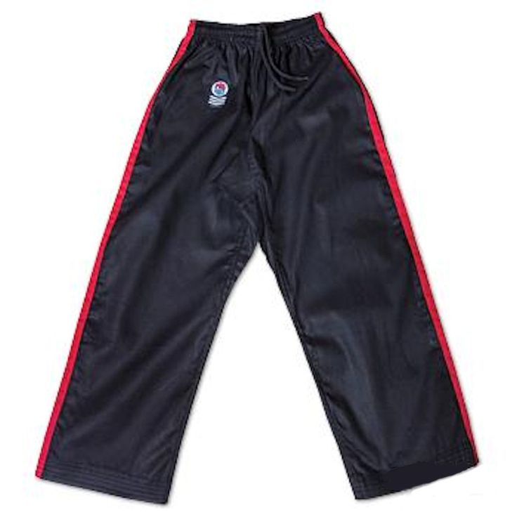 ProForce Gladiator Demo Karate Pants II. These 8 oz. medium weight karate pants with side pockets are made of a 55% cotton / 45% polyester blend and feature an elastic drawstring waist. Available in 6 great color combinations from sizes 000 to 7.  Key Features  8 oz. medium weight karate pants. 55% cotton / 45% polyester. Elastic drawstring waist. Available in 6 great color combinations. Sizes 000 to 7  Ships in 2 to 5 days