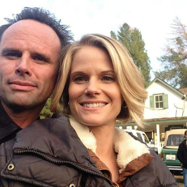 Walton Goggins and Joelle Carter from Justified.