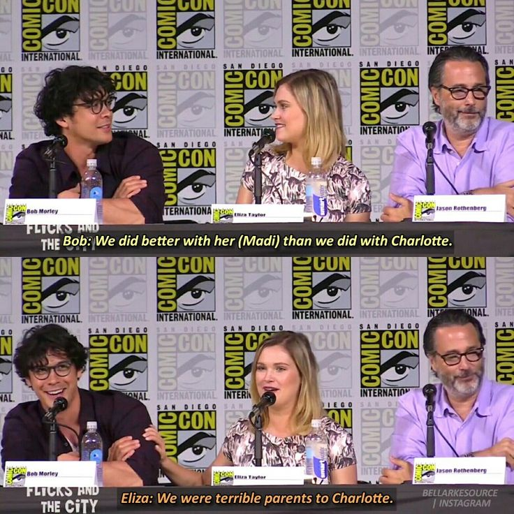 PARENTS #The100SDCC 2017 Bellarke- Bob and Eliza it's confirmed bellarke are the mom and dad of the 100