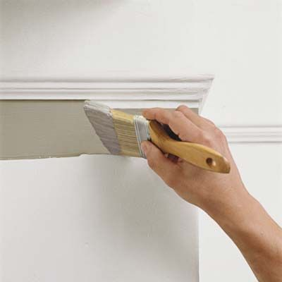 The secret to painting a straight line at the intersection of walls and ceiling.   Photo: Kolin Smith   thisoldhouse.com  