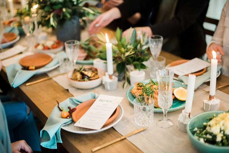 Shared wedding table, catering, feast, food, organic, french.  Reception Venue: Osteria, Casuarina Photography: Byron Loves Fawn Styling: Little Gray Station Hire: Hampton Event Hire Florals: Rose Apple Flowers Catering: Graze Wedding Catering