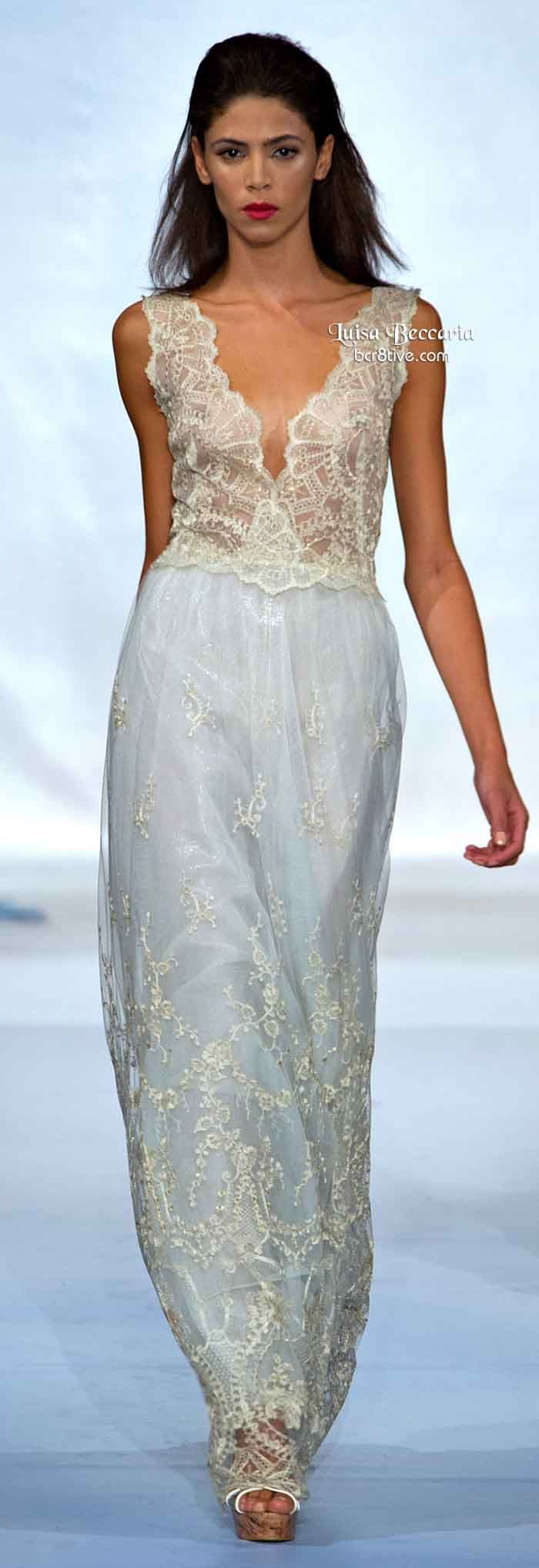 Luisa Beccaria Spring 2014...I see pants. Wow, love the details & fabric. Ask your seamstress for suggestions for that bridal look.