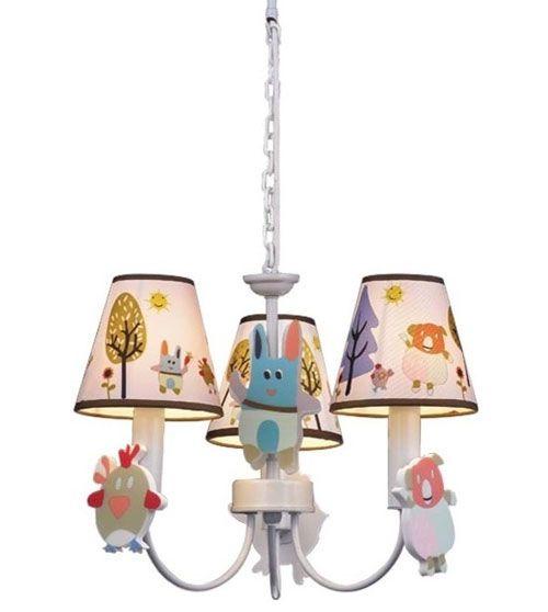 Simpatico lampadario per la cameretta di bambini con coniglietti ...
