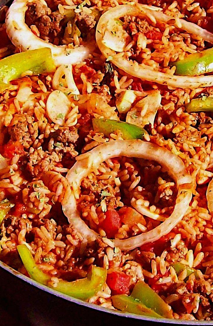 Spanish Rice Recipe In 2020 Spanish Rice Stuffed Peppers Spanish Rice Recipe
