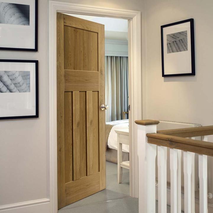 Solid Oak 1930s Style Door 1930s House Interior Solid Oak Doors Doors Interior