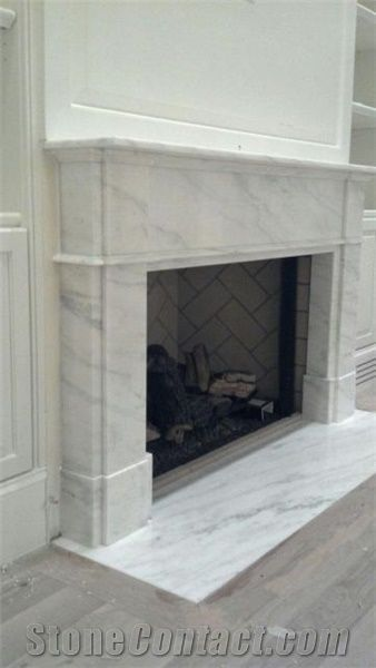 Custom Imperial White Danby Fireplace Surround, Im…
