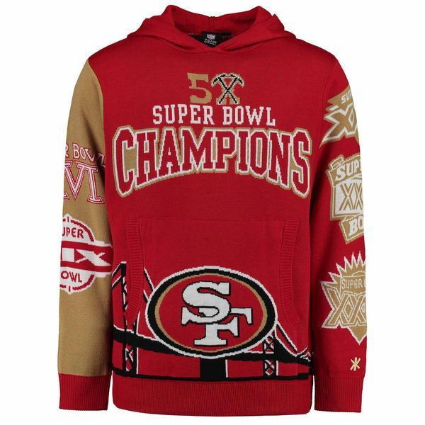 San Francisco 49ers NFL Super Bowl Commemorative Acrylic Hoodie